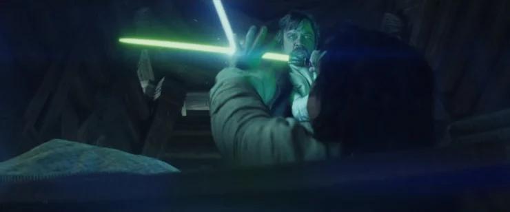 Ben Solo y Luke Skywalker