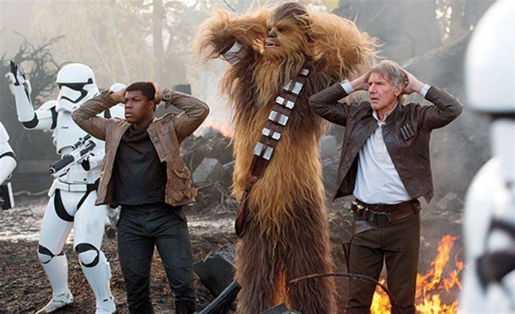 El despertar de la Fuerza - Finn, Han Solo y Chewie