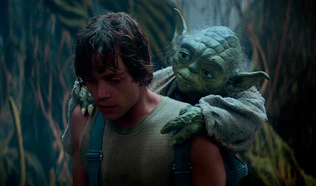 Luke Skywalker y Yoda