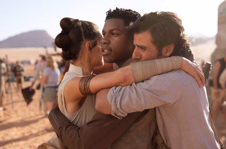 Rey, Finn y Poe