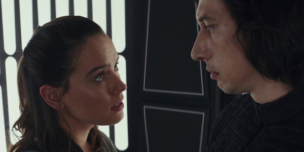 Rey y Ben Solo