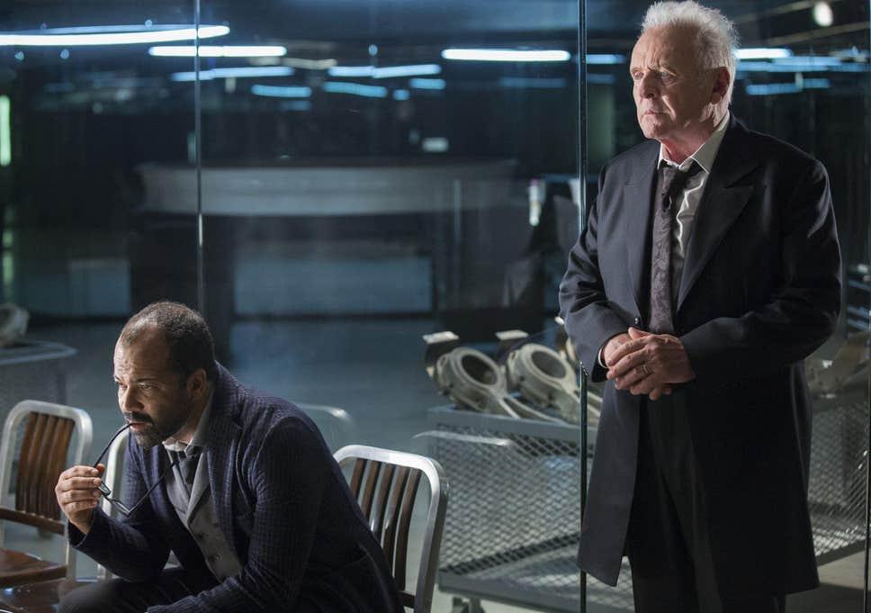 Jeffrey Wright y Anthony Hopkins en 'Westworld'