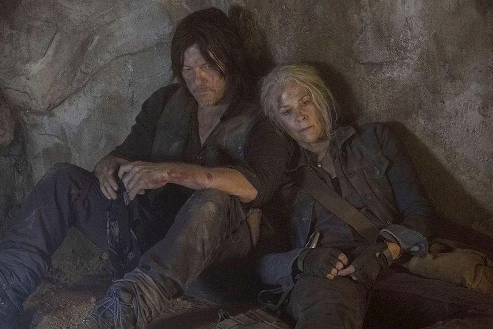 Daryl (Norman Reedus) y Carol (Melissa McBride)