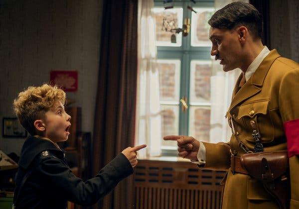 Jojo y Hitler en 'Jojo Rabbit'