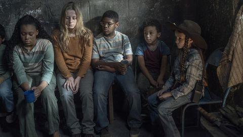 Judith y el resto de los pequeños de Hilltop en el 10x12 de The Walking Dead