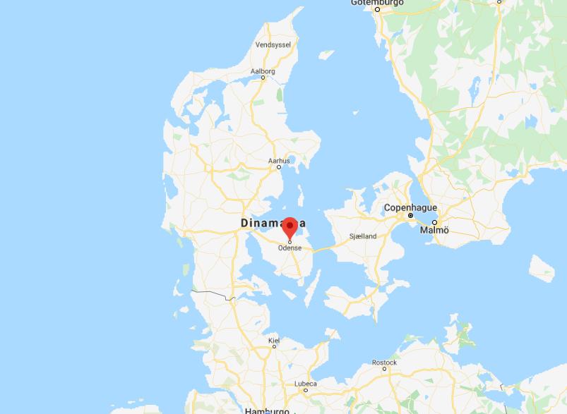 Odense - mapa