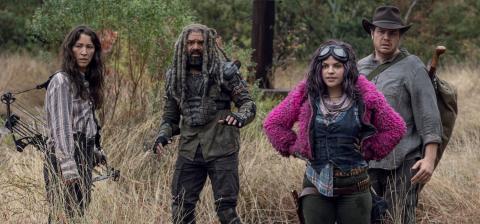 The Walking Dead 10x15 - Eugene, Yumiko y Ezekiel con Princesa