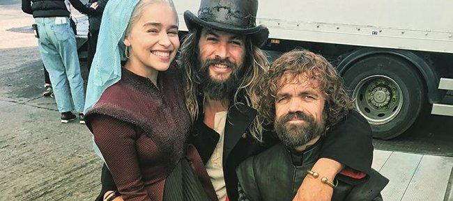 Emilia Clarke, Jason Momoa y Peter Dinklage