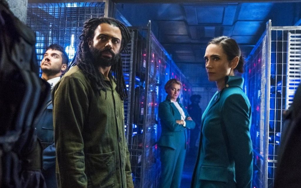 Daveed Diggs y Jennifer Connelly en 'Rompenieves'
