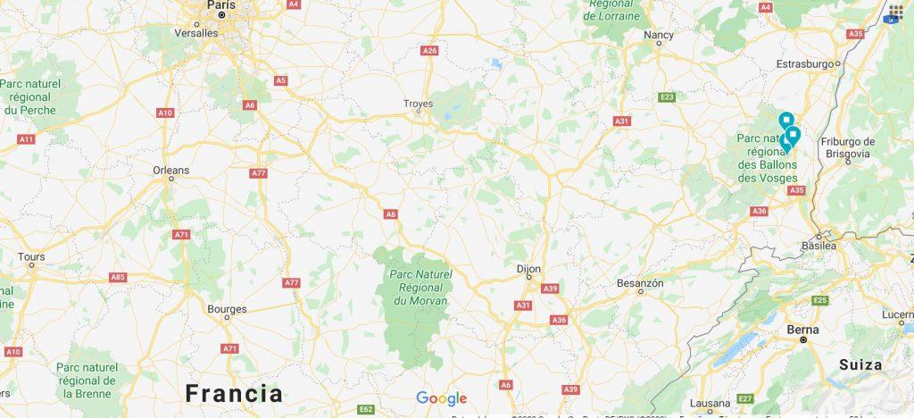 Los pueblos de La Bella y la Bestia - Mapa