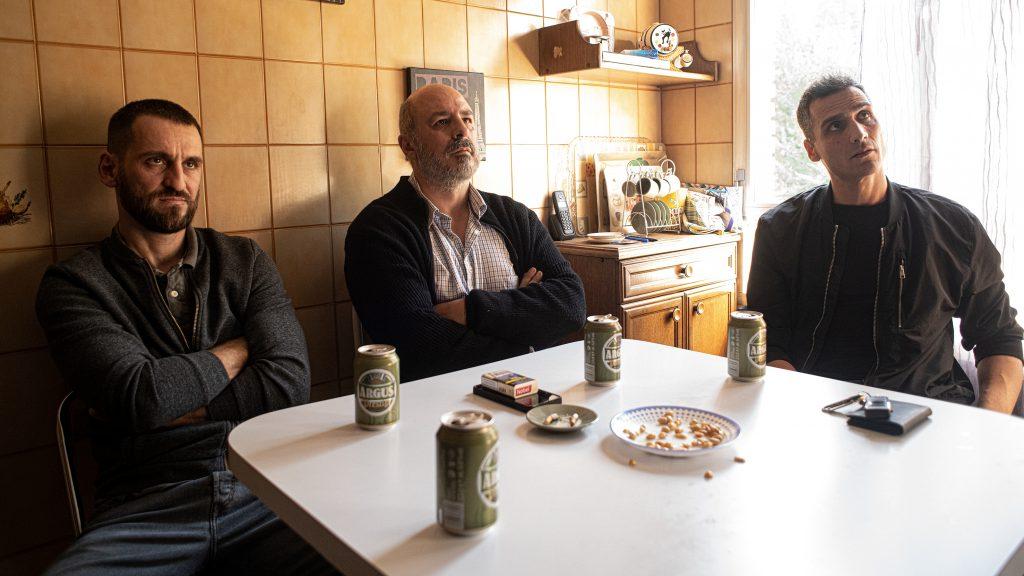 Raúl Arévalo, Roberto Álamo y Raúl Prieto en Antidisturbios