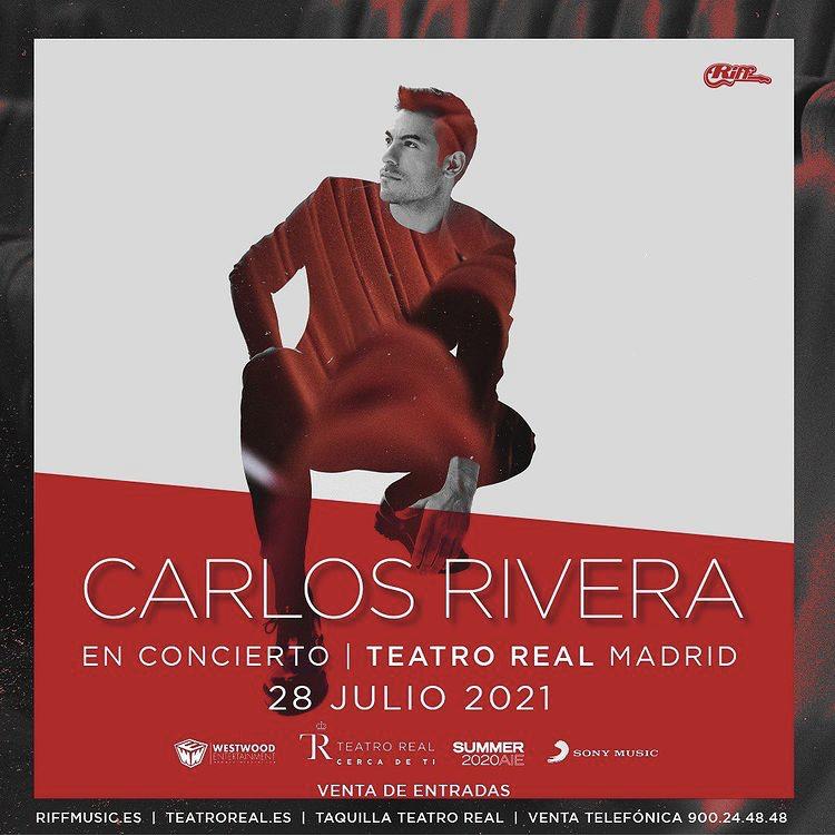 Carlos Rivera - Cartel conciertos 2021